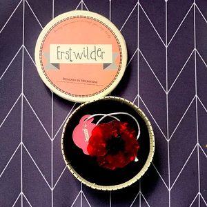 Erstwilder brooch red poppy BNWT